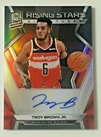 2018-19 Panini Spectra Rising Stars Troy Brown Jr RC Auto 44/75 Wizards