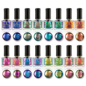 BORN PRETTY 6ml Magic Nail Polish Chameleon Glitter Holographic Nail Art Varnish