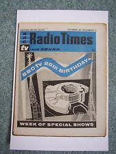 New Postcard Vtg Radio Times cover October-November 1961 BBC TV Centre building