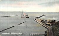 POSTCARD    SOUTH  AFRICA   PORT  NATAL  Arrival  of  Mail  Steamer