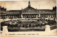 CPA Tourcoing-La Place de la Gare-Station Square (188349)