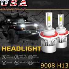 LED Headlight Bulbs Kit Lamp 9008 H13 Cool White 6000K High Low Beam Lights