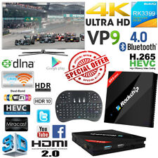 H96Max RK3399 Hexa Core 4G 32G 4K Android TV Media Box + Free i8 Mouse Keyboard