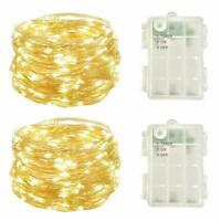 2Pack Battery Operated Fairy Lights with Timer,Christmas Mini Led Lights String