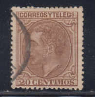 ESPAÑA (1879) USADO SPAIN - EDIFIL 203 (20 cts) ALFONSO XII