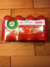 4 Air Wick Pure Freshmatic Refill Automatic Spray Apple Cinnamon Medley