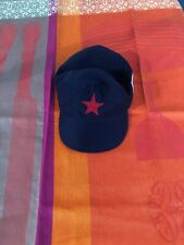 Vintage Blue Cap Cuban Revolution Red Star Cuba all cotton Small