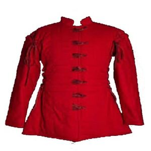 Thick Padded Gambeson costumes suit of armor for theater sca larp red