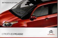 CITROEN C3 Picasso Betriebsanleitung 2010 Bedienungsanleitung Handbuch  BA