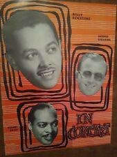 Count Basie Billy Ecktine & George Shearing 1950's Jazz Concert Program