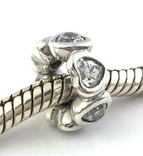 Authentic Pandora Space In My Heart Clear CZ Spacer Charm 791252CZ New