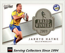 2011 Select NRL Strike Award Winners Card AW1 Jarryd Hayne - 2009 Dally M