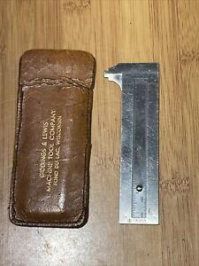 The EXECUTIVE POCKET CHUM Stainless Steel Caliper Gauge Measurement Tool Vintage