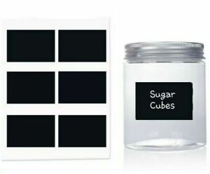Chalkboard Blackboard Chalk Board Stickers Craft Kitchen Jar Labels Tags Black