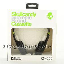 Skullcandy Cassette On-Ear Stereo Headphones w/Mic & Remote Lurker Toxic Flyer