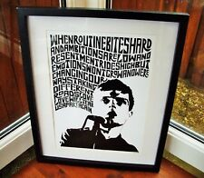 Joy Division/Love Will Tear Us Apart A3 size typography art print/poster