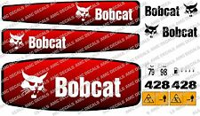 BOBCAT 428 Mini Escavatore decalcomania Set