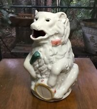 Antique French Majolica Bear with Drum And Stick Pitcher