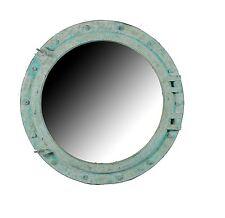 "36""Dia Shipwreck Finish Wall Mount Porthole Mirror Round 3 Foot Green Nautical"