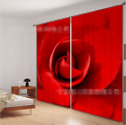 3D Red Petal 2 Blockout Photo Curtain Printing Curtains Drapes Fabric Window AU