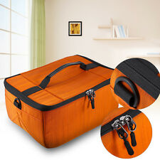 Large DSLR SLR Camera Flexible Insert Padded Parition Dividers Lens Bag Box Case