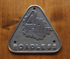 Land Forest Rover Series 2 2a Cast Aluminium Grill Tub Badge Roadless 109 LWB