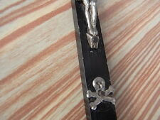 Antikes Wandkreuz Sterbekreuz Kreuz Holz Kruzifix mit Totenkopf um 1910