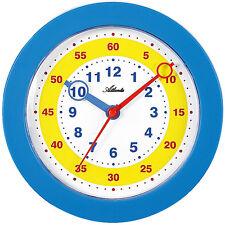 Atlanta Wanduhr für Kinder Lernuhr analog blau - 4481-5