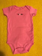 """Baby pink Bodysuit """"hug me"""" ~ size 12 M by carter's"""