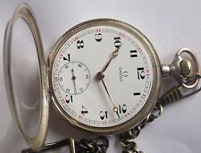 Very Rare-Omega-1915s-Swiss Pocket Watch Silver-0,800