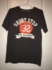 Carter's Boys Size 7 Baseball Short Stop In Training Short Sleeve Glove Shirt