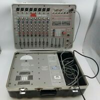 Dawn DM-500 Powered Mixing Console Panel Portable Suitcase 8 Channel 500 Watt