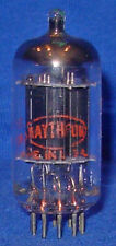 Strong  Raytheon 12DT7 Low Noise Long Black Plate 12AX7 Vacuum Tube