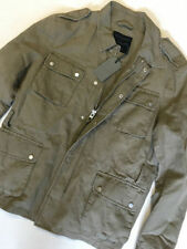 Cotton Blend Hip Length Military Collared Men's Coats & Jackets