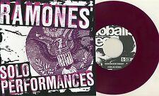 "Ramones-solista dall'interpretazione 7"" BLACK SLEEVE/Purple VINILE Johnny Dee Dee Marky"