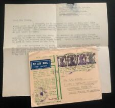 1945 Military Post Office India OAS Airmail Cover To Nashville TN USA W Letter