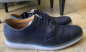 Cole Haan Grand.OS Navy Blue Brogue Wingtip Casual Oxfords C21618 Men Size 11.5