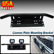 "Bull Bar Front Bumper License Plate Mount Bracket Holder LED Light Offroad 23"""