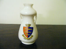 Great  Yarmouth  Norfolk  1930's Miniature  Crested Vase  Retailed By  E.C.Spall