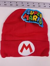 Super Mario Bros Knit Beanie - Red M - CultureFly collector's box item - NEW