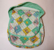 Vintage 1983 Cabbage Patch Kids Quilted Diaper Bag green & white