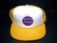 VINTAGE MCLEAN SCHOOL SNAPBACK MESH TRUCKERS CAP - BALL HAT