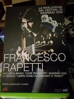 NO CD/LP - FRANCESCO RAPETTI - cartonato pubblicitario rigido - COME UN AMANTE