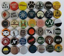 100 Mixed Beer Bottle Caps (No Repeats) Zero Defects