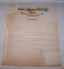 1922 Sun Linseed Oil Co Invoice Richmond Virginia