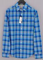 Men Penguin Casual Shirt Heritage Slim Fit StretchCheck Cotton S MFA923