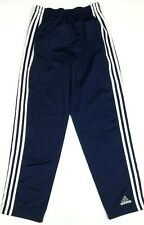 ADIDAS Men's Basketball Pants Small Navy Blue Button Snap Tear Away S