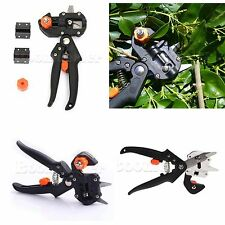 Fruit Tree Grafting Tools Secateurs Scissors Vaccination Cutting Knife + 2 blade