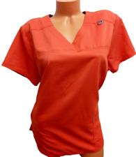 Scrubstar orange blue short sleeves v neck spandex stretch plus scrub top Xl