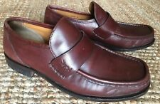 YVES SAINT LAURENT MENS SLIP ON LEATHER LOAFERS SHOES Brown SIZE Uk 8